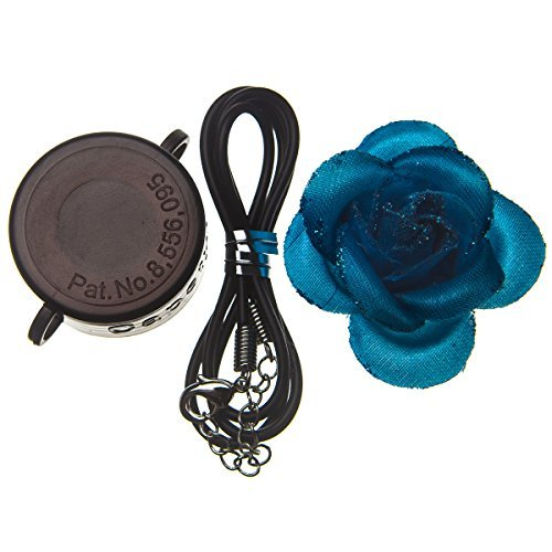 Capstyle Bottle Cap Necklace, Magnet and Jewelry for Decoration - Black Capstyle and Blue Flower Starter Set Elegance I