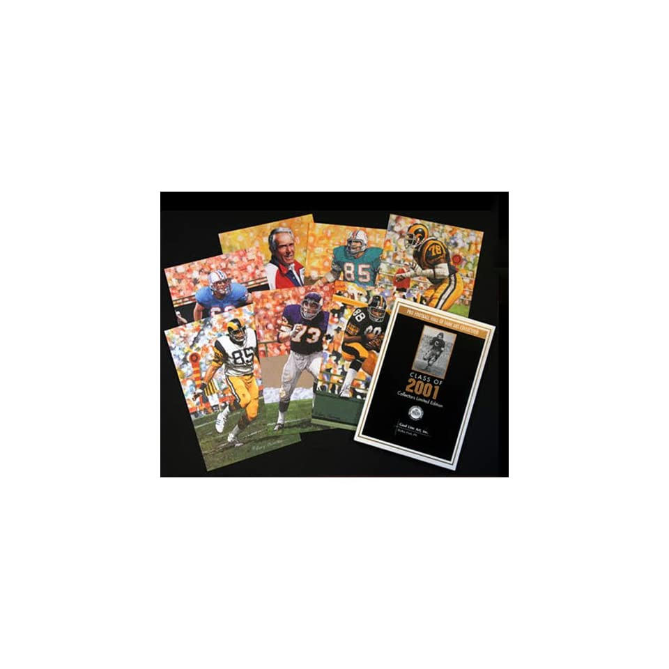 NFL Pro Football Hall of Fame Goal Line Art Cards Class of 2001