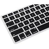 """Tastatur Keyboard Cover Silikon Schutz Abdeckung Deutsch EU Version schwarz für Apple MacBook Pro 13"""", 15"""", 17"""" Zoll QWERTZ"""