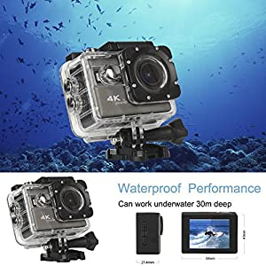 California Sugar Wide Angle 2.0 inch WIFI Full HD 1080P Sports Camera , waterproof/shockproof Cam Dv Camcorder Outdoor for Bicycle Motorcycle Diving Swimming Skiing Sliver with Free Accessories Kit