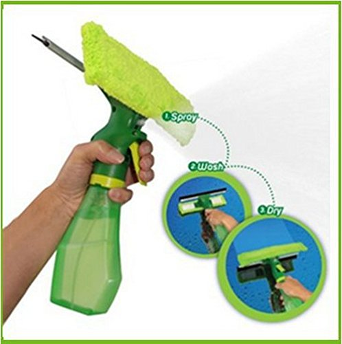 Bigshopkart Home cleaning spray window,car,Glass cleaner with microfiber and rubber