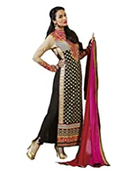 Black Occasion Wear Dress Material