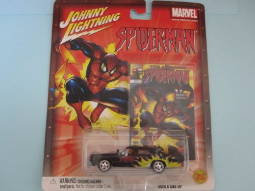 Spiderman Dodge Monaco- By Johnny Lightning-black/flames - 1