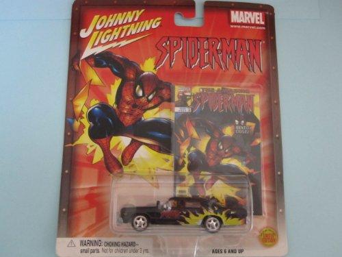 Spiderman Dodge Monaco- By Johnny Lightning-black/flames - 1