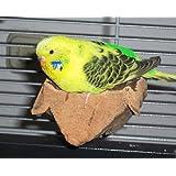 """Korksitzbrett """"S"""". Sensationelles Knabber-Vogelspielzeug !! Ideales Vogelzubehör für den Vogelkäfig für Wellensittich und Co."""