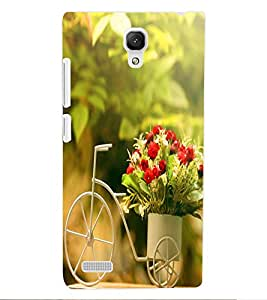 ColourCraft Beautiful Bouquet Bike Design Back Case Cover for XIAOMI REDMI NOTE 4G