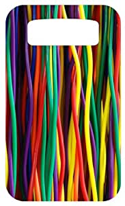 Colorful Cables White Back Cover Case for Blackberry Bold 9700