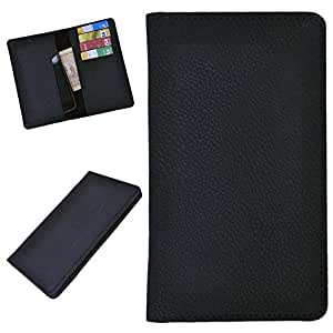DCR Pu Leather case cover for Lava 3G 402+ (black)