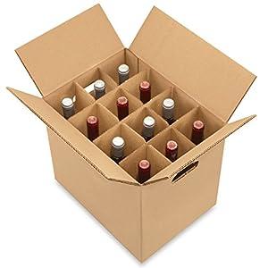 Wine Carrier Box - 12 Bottle Pack- ULINE - 10/bundle
