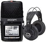 Zoom H2n Handy Recorder + Samson SR850 Kopfhörer