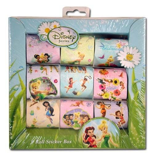 Tinkerbell 9 Roll Sticker Box - 1