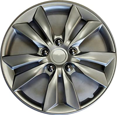 """16"""" Set Of 4 Hubcaps Fit 2011 2012 Hyundai Sonata Wheel Covers Design Are Universal Hub Caps Fit Most 16 Inch Wheels"""
