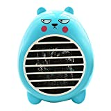 Rubility Cute Heater Fan Cartoon Household Warmer Mini Electric Fan Heater (Blue)