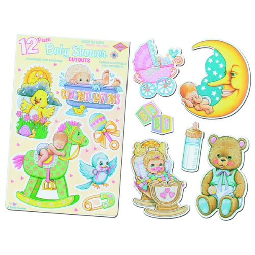 White Baby Shower Punchouts Party Accessory (1 count) (12/Sh) - 1