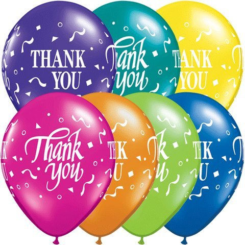 PIONEER BALLOON COMPANY Round Thank You Fan Confetti, 11""