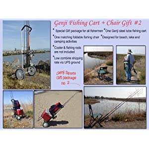 Fishing cart and fishing Chair Gift set