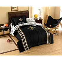 5pc NFL Saints Bedding Set - New Orleans Football Comforter Sheets Twin Bed