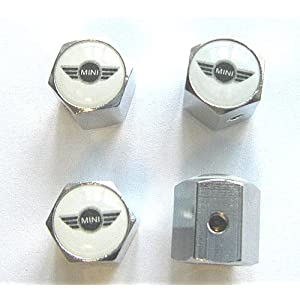 BMW Mini Cooper Anti-theft Car Wheel Tire Valve Stem Caps