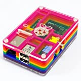 PIBOW COLOUR RASPBERRY PI CASE MICRO-COMPUTER ACRYLIC PRIMARY PORTS ACCESSIBLE