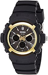 Skmei Analog Gold Dial Mens Watch - 1149BBGO