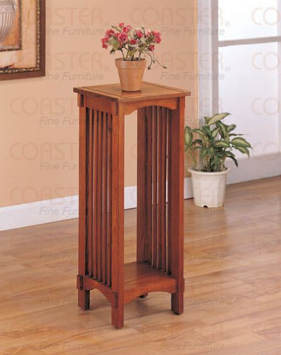 Cheap 2 Solid Oak Plant Stand Tables End Bedside (B0030A0AL6)