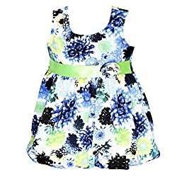 ChipChop Blue Empire Waist Casual wear Round Neck Dress for Girls