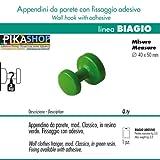 foto 1 Appendino da Parete CLASSIC in Resina Verde (Fissaggio con Adesivo) Ø40 x 50 mm