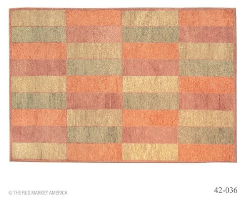 The Rug Market 42036D SAN ANTONIO BLOCKS GOLD AREA RUG