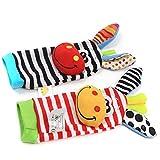 EJY Biene Rasseln Spielzeug Baby Plüschtiere, Kleinkindspielzeug Kinderwagen, Baby Rasseln -Socke Stil von 88_Store
