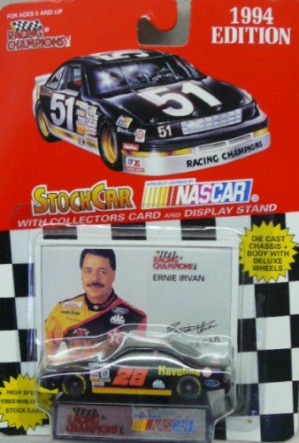 1994 Edition - Racing Champions - NASCAR - Ernie Irvan - No. 28 Havoline Ford - 1:64 Scale Replica Stock Car
