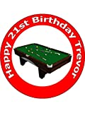 75 Inch Pool Table Birthday Cake Toppers Decorations Personalised On Edible Rice Paper Please use the Contact Seller link to send us your personalised message