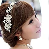 2013newestseller Boutique Wedding Silver-tone Flower Pearl Bead Hair Comb Hair Pins Bridal Accessories