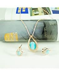 Swarovski Elements 18K Gold Plated Austrian Crystal Necklace 1523043