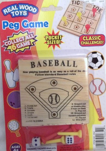 Real Wood Toys Baseball Peg Game - 1