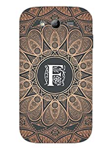 Initial F - Classy And Personalised - Designer Printed Hard Back Shell Case Cover for Samsung Grand Duos Superior Matte Finish Samsung Grand Duos Cover Case