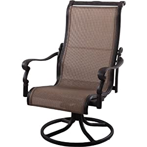 Amazon Com Darlee Monterey Swivel Rocker Chair Patio