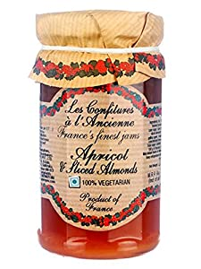 Apricot Almond Jam Andresy All natural French jam pure sugar cane 9 oz jar Confitures a l'Ancienne, One