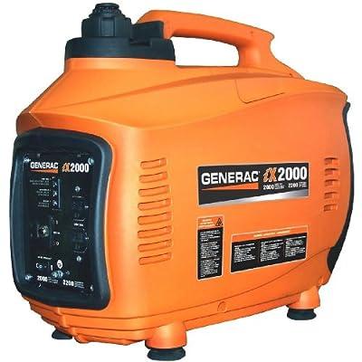 Generac 6719-0 iX2000 2,000 Watt 126cc 4-Stroke OHV Gas Powered Portable Inverter Generator