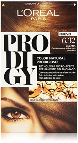 L'Oreal Tintura per Capelli, Prodigy Coloración Permanente, 200 gr, 6.32-Sabana