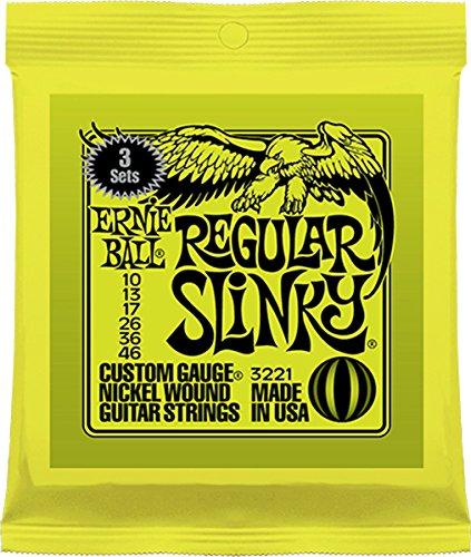 Ernie Ball Regular Slinky Nickel Wound Sets, .010 - .046 (3 Pack)