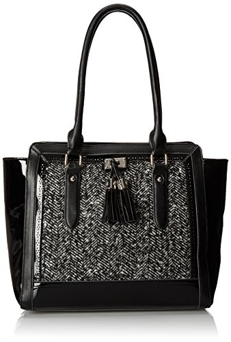 Nine West Razzle Tassel Tote, Black White, One Size
