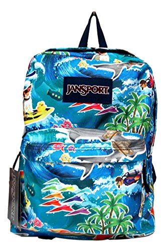 Jansport Superbreak Backpack! (Multi Wet Sloth)