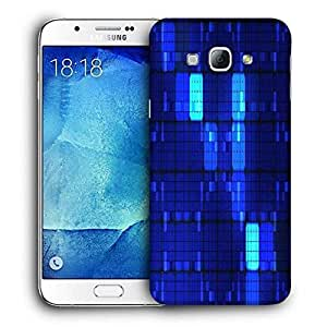 Snoogg Blue Blocks Printed Protective Phone Back Case Cover For Samsung Galaxy Note 5
