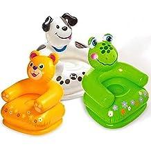 Intex Premium Inflatable Beanless Sofa Chair For Kids 60 Kg,Intex Inflatable Animal Chair For Kids (Age: 3-8 Years...