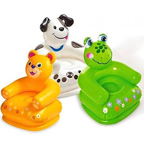 Intex Premium Inflatable Beanless Sofa Chair For Kids 60 Kg,Intex Inflatable Animal Chair For Kids (Age: 3-8 Years...