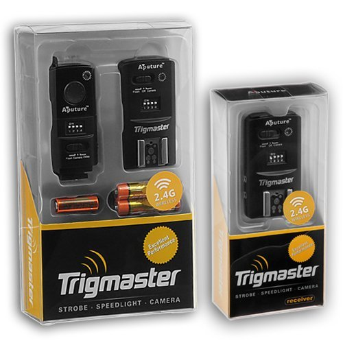 Aputure 2.4GhZ Trigmaster Radio Remote Flash Trigger and Shutter Cable Release, for Nikon D90, D310, D5100, D5200, D7000, D7100 and SB-600, SB-700, SB-800, SB-900, SB-910 Speedlite