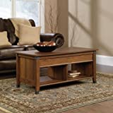 Sauder Carson Forge Lift-Top Coffee Table, Washington Cherry Finish
