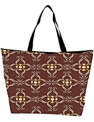 Snoogg Abstract Brown Designer Waterproof Bag Made Of High Strength Nylon