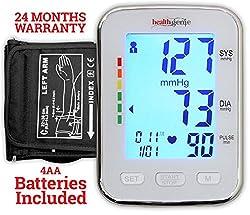 Healthgenie BP Monitor digital Upper arm BPM 04BL Automatic with irregular heart beat indicator - 24 MONTHS WARRANTY