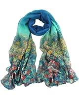 Tonsee Women's Floral Print Long Scarf Shawl Wrap Pashmina